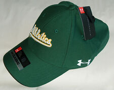 NWT Under Armour Threadborne 1316990 Sz M/L UA Classic Flex Fit Oakland A's Hat