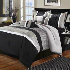 Euphoria Black Comforter Bed In A Bag Set 8 Piece
