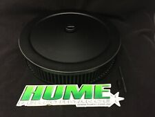 BLACK AIR CLEANER FILTER ASSEMBLY 14X3 FLAT BASE WASHABLE HOLLEY 5-1/8