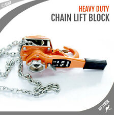 NEW 750kg 1.5m Lifting Chain Lever Block Lift Hoist Jack Manual Operated Winch