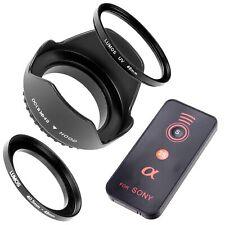 Set 49mm Sonnenblende Fernauslöser passt zu Sony Kit Alpha 6000 SEL P1650 55210