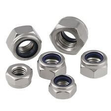 M2 M3 M4 M5 M6 M8 M10 M12 M16 M20 Nylon Insert Lock Nut Nyloc Nuts 304 Stainless