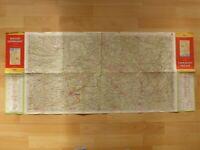 alte Landkarte Deutsche Generalkarte Shell Mairs Geographischer Verlag Nr. 17