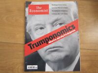 The Economist Magazine Donald Trump,Emmanuel Macron,James Comey New.