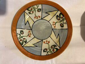 """Vintage Lusterware Serving Plate Floral Iridescent Porcelain  7 1/4""""Japan"""
