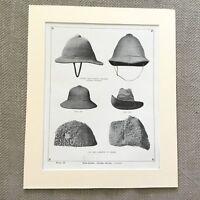 1900 British Esercito Passo Casco Reggimento Militare Uniforme Originale Antico