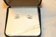 NIB Gold Cubic Zirconia Roman Pierced Earrings Fashion Jewelry