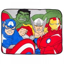 Avengers 'Force' Coral Panel Fleece Blanket Throw Brand New Gift