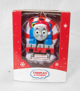 THOMAS the TANK ENGINE w Santa Cap Christmas Train Ornament New In Box
