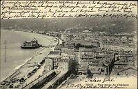 Nizza Nice Frankreich France Côte d'Azur 1904 Panorama Blick gelaufen n. Rostock