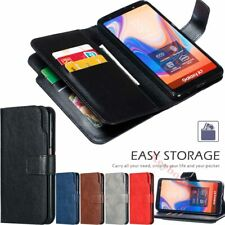 For Samsung S10 S9 J4 J6 Plus A6 A7 A8 2018 Wallet Flip Leather Phone Case Cover
