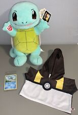 *BRAND NEW* Build A Bear Pokemon Plush Squirtle w/Card & Ultra Ball Hoodie