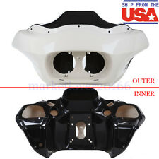 USA Unpainted ABS Injection Inner&Outer Fairing for Harley Road Glide FLTR 98-13