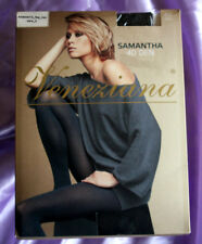 Veneziana Italian Soft Touch 40 denier Opaque Pantyhose Tights Gusset Black Med