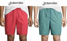NWT $40 Sz XL St John's Bay Men Swim Trunks Drawsting Beach Shorts Red New!!