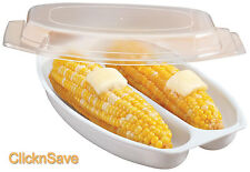 Nuevo genio Microondas Vapor maíz en la mazorca de maíz Fat Free maíz fácil Olla de Cocina