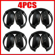 4X Infrared Stereo Wireless Headphone Headset IR Car DVD Radio Player Headrest