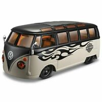 1:24 Volkswagen Harley Davidson Samba Van Camper Custom Car Vehicle Model Toy