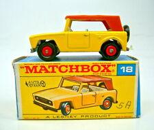 "Matchbox RW 18E Field Car gelb unlackierte Bodenplatte in ""F"" Box"