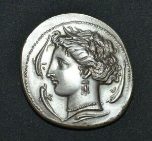 Médaille - monnaie Byzantine Argent massif numérotée - Antique - Grèce