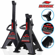 HEAVY DUTY 6 TON GARAGE WORKSHOP MECHANIC RATCHET JACK AXLE STAND SUPPORT PAIR