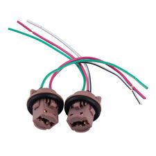 2x 7443 7440 T20 Harness Wire Bulb Socket Pig Tail LED Turn Signal Brake Lights