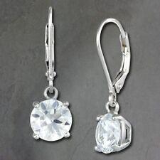 Orecchini di bigiotteria tondi pendenti in argento