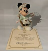"""LENOX """"Mickey's Holiday Surprise"""" 2002 Ornament - New in Box with Certificate"""