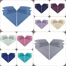 SOFT FLAT SHEETS PLAIN DYED POLY COTTON BED SHEET SINGLE DOUBLE KING SUPER KING