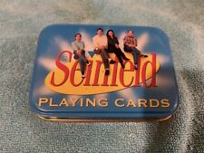 VINTAGE PLAYING CARDS DECK SEINFELD TV SHOW IN METAL TIN SEALED DECK