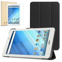 Smart Cover Case for Acer Iconia One 8 B1-850 / B1-860 & Glass Screen Protector