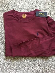 Polo Ralph Lauren Maroon Long Sleeve Slim Fit Shirt (M) NEW
