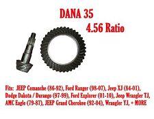 RING & PINION GEAR SET, DANA 35, 4.56 RATIO JEEP XJ YJ Ford Dodge AMC D35-456