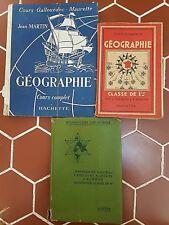 Lot de manuels scolaires anciens - GEOGRAPHIE -