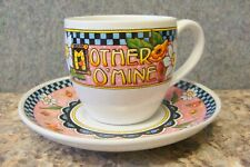 Mary Engelbreit Mother O' Mine Cup and Saucer Set of 2