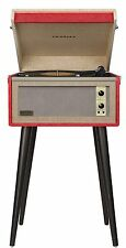 Crosley CR6233A-RE Dansette Bermuda Portable Turntable with Aux-In, Red Finish