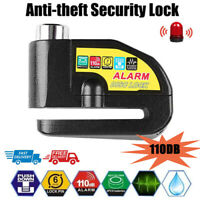 Waterproof Motorcycle Alarm Lock Bike Disc Brake Security Anti-theft Alarm Lock