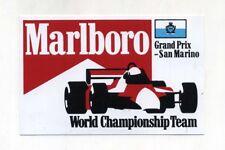 Adesivo FORMULA 1 SAN MARINO GP MARLBORO TEAM World Championship sticker F1