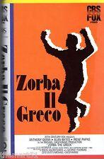 Zorba il greco (1964) VHS CBS Fox Video 1a Ed.- Anthony Quinn Alan Bates Papas