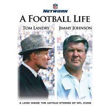 A FOOTBALL LIFE - Tom Landry and Jimmy Johnson (NFL) DVD [V34]