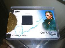 James Bond Autographs & Relics - Daniel Craig Autograph Relic Costume #10/155