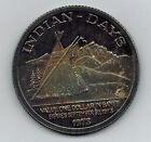1973 Trade Dollar Canada Banff Indian Days Scarce Silver .999 UNC