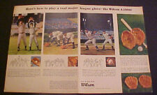 1965 Ron Santo Wilson Glove A2000 Chicago Cubs 2 Page Sports Memorabilia AD