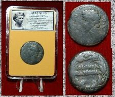 Ancient Roman Empire Coin AUGUSTUS Struck In COLONIA PATRICIA,SPAIN