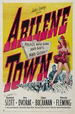 Abilene Town (1946) Randolph Scott Cult Western movie poster print
