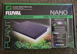 Fluval Aquarium NANO Plant Spectrum Bluetooth LED 7500k 15 Watts NEW in Box