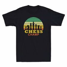 Style Tee T-Shirt Chess For Vintage Retro Design Men's Players Champ Chess