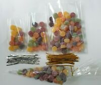 CLEAR CELLOPHANE CONE CELLO DISPLAY BAGS FOR LOLLIPOPS, CAKE POPS, SWEETS PARTY
