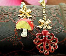 big octopus earring N383 Bj Beautiful Betsey Johnson Lovely Red mushroom