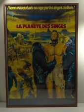 "LA PLANETE DES SINGES (Planet of the Apes) ~French Mascii Poster/Frame 40"" x 27"""